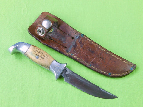 "Custom Hand Made R.H. RUANA ""Knife"" Stamped Small Skinner Stag Hunting Knife"