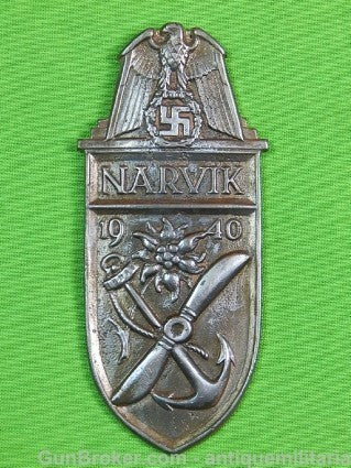 Replica of German Germany WW2 Narvik Shield Badge