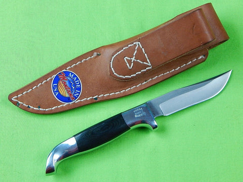 Vintage US Custom Hand Made Ruana Steelhead Hunting Knife & Sheath