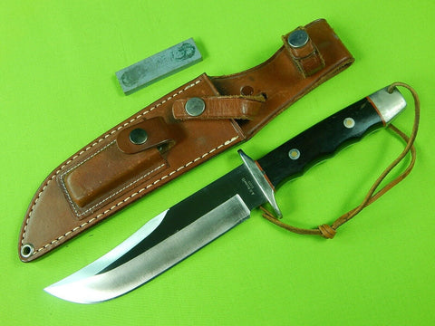 A.G. Russell Japan Made Bowie Fighting Knife & Sheath Stone