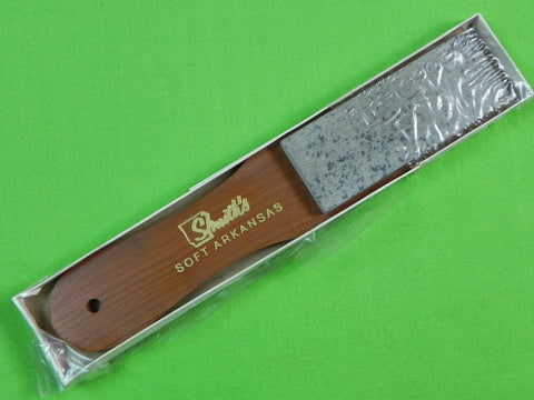 US Smith's Soft Arkansas Knife Sharpening Oilstone Stone Sharpener w/ Box