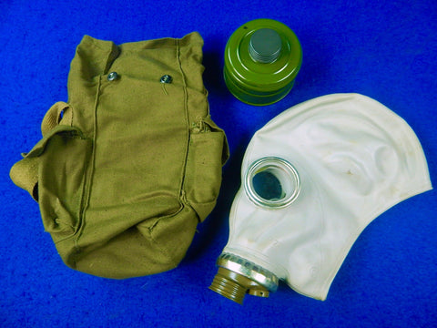 Soviet Russian Russia USSR Gas Mask w/ Bag