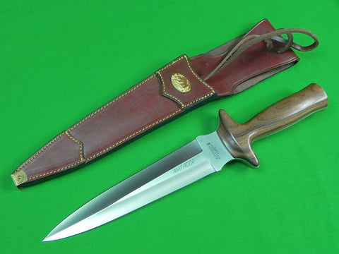 Vintage Spanish Spain MATADOR Aitor Huge Double Edged Fighting Knife w/ Sheath