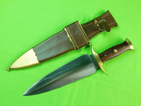 RARE Vintage Spanish Spain Muela Montero Spear Point Bowie Fighting Knife Sheath