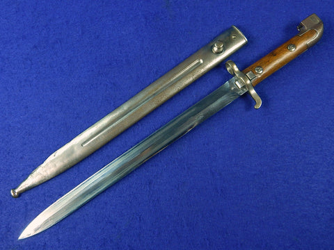 Swedish Sweden WW2 Model 1913 Bayonet Fighting Knife w/ Scabbard