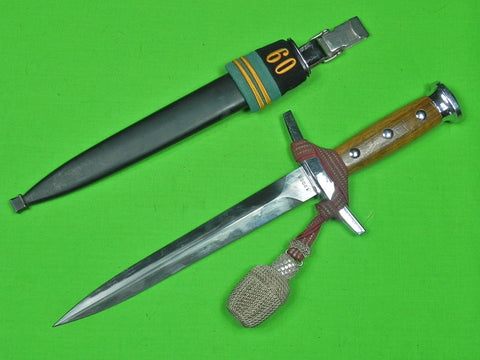Swiss Switzerland Model 1943 Officer's 1960 Dagger Fighting Knife & Scabbard