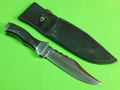 Custom Hand Made by TOM GEORGE Hunting Fighting Knife & Sheath