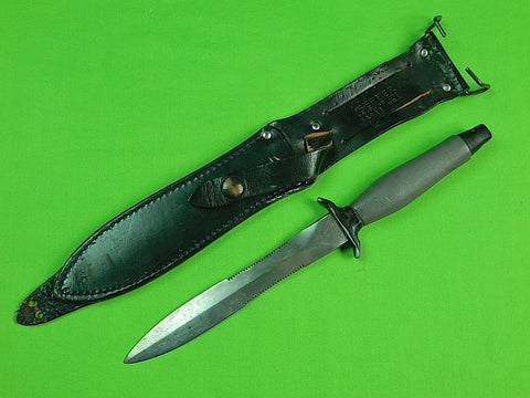 US 1976 GERBER MK2 Grey Handle Commando Fighting Knife #49120 & Sheath