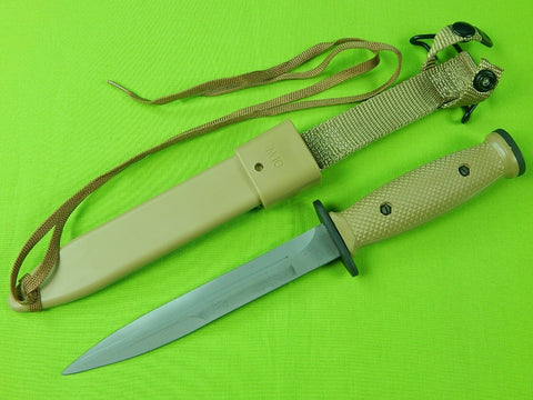 Vintage US 1991 M10 Desert Storm Combat Commando Fighting Knife w/ Scabbard