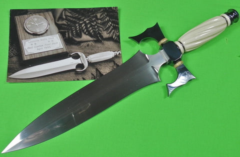 Vintage US Custom Hand Made SCOTTIE S. H. WHITE Huge Bowie Fighting Knife Dagger