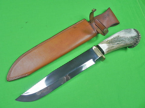 "US Custom Hand Made by TODD ORR Skyblade Huge 18"" Bowie Hunting Knife & Sheath"
