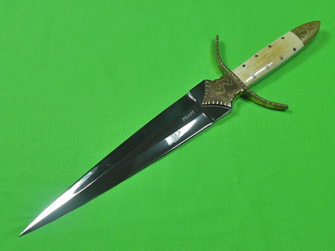 US Custom Made Handmade by CHARLES PRATT Large Hunting Fighting Knife Dagger