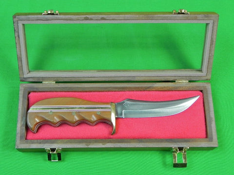 US Custom Hand Made Hunting Skinner Knife Marked w/ Box