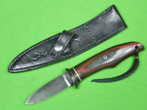 US Custom Hand Made ROBINSON Ex-Files Small Fighting Knife & Browning Sheath