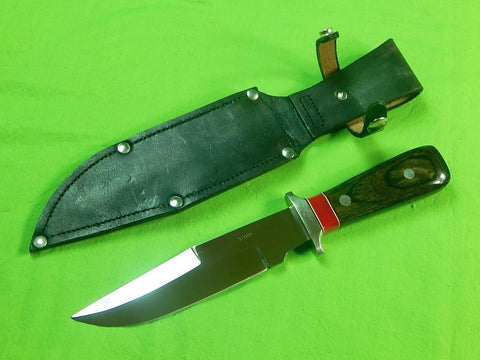 US Custom Made Steier Bowie Fighting Hunting Knife & Sheath