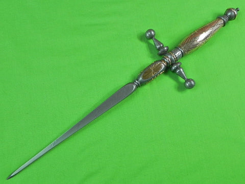 US Custom Hand Made by DON DOUG CASTEEL Huge Art Dagger Stiletto Fighting Knife