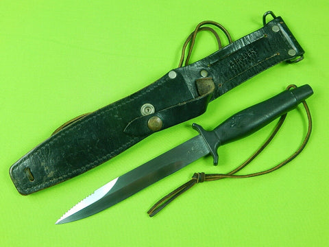 US GERBER Command II Fighting Knife & Sheath Etched # 011412