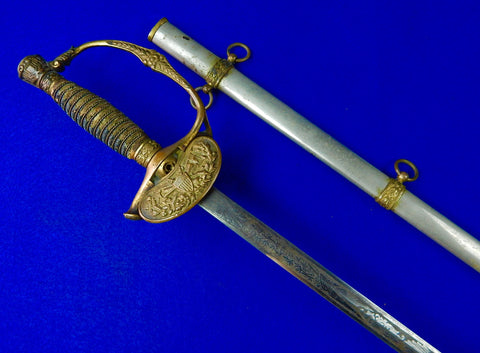 US Spanish-American War Model 1860 Engraved Staff & Field Officer's Sword