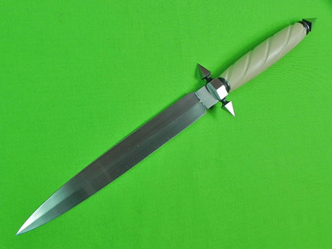US Custom Hand Made by ROGER D. MASSEY Stiletto Fighting Knife Dagger