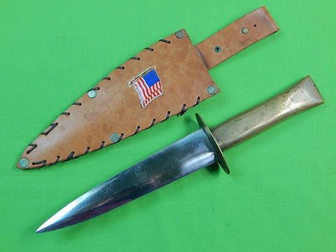 US Vietnam Era Custom Made Handade Huge Stiletto Theater Fighting Knife & Sheath
