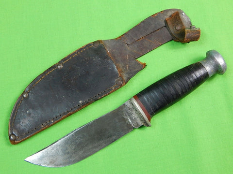 RARE Old Vintage US WESTERN STATES Cutlery Fighting Knife w/ Sheath