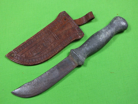 US WW2 Custom Hand Made Aluminum THEATER Fighting Knife & Sheath #133