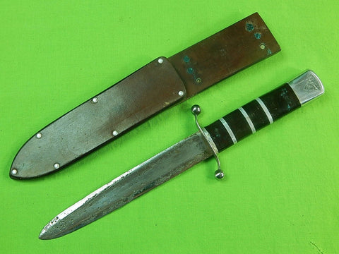 US WW2 Custom Made Handmade Theater Fighting Knife & Sheath
