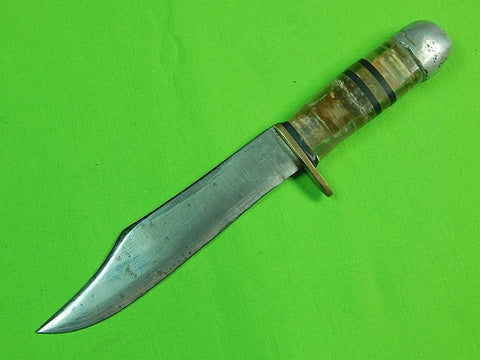 US WW2 WWII Theater Custom Hand Made Lucite Handle Fighting Knife
