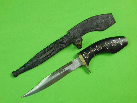 Vintage Antique Philippines African Africa Middle East Fighting Knife & Sheath