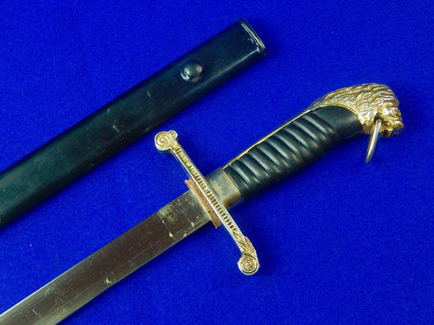 Vintage Argentina Argentinian Police Dress Dagger Short Sword with Scabbard