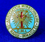 Vintage Association Missionnaire De Marie-Immaculee Catholic Enameled Pin Badge