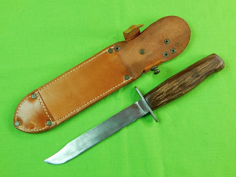 Vintage Czechoslovakian Czechoslovakia Czech Fighting Knife w/ Sheath
