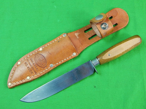 Vintage French France Military Hunting or Fighting Knife w/ Nicholas Sheath