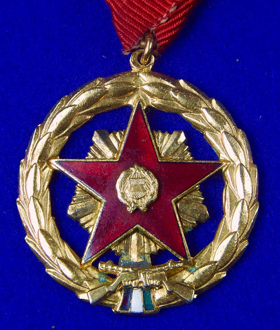 Vintage Hungarian Hungary Soviet Period Medal Order Badge