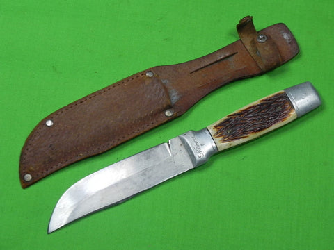 Vintage Japan Japanese Made Hunting Knife & Sheath