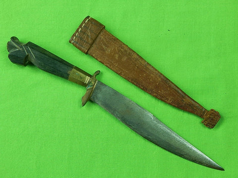 Vintage Old Philippines Philippine Hunting Knife w/ Sheath