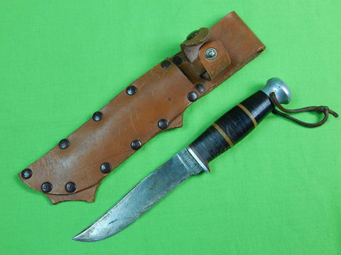 Vintage Old US FOLSOM Hunting Knife w/ Sheath