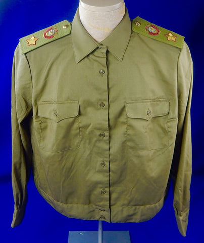 Vintage Soviet Russian Russia USSR Marshal Summer Shirt Tunic Jacket Uniform