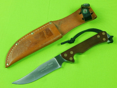 Vintage Spanish Spain Toledo Hunting Knife & Sheath