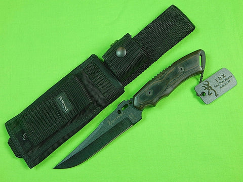 Vintage US BROWNING Tactical FDX Field Duty Xtreme Fighting Knife & Sheath