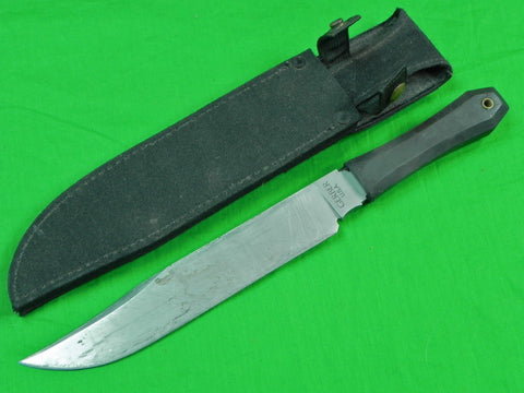 Vintage US GERBER Commando Bowie Huge Fighting Knife w/ Sheath
