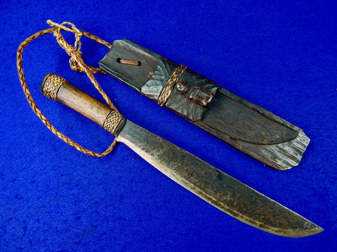 Antique Old African Africa Short Sword Knife w/ Scabbard