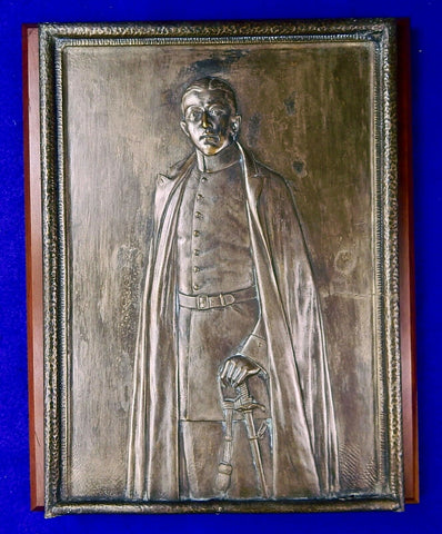 Antique German Germany WW1 Silver Bronze Large Heavy Wall Plaque Military Decor
