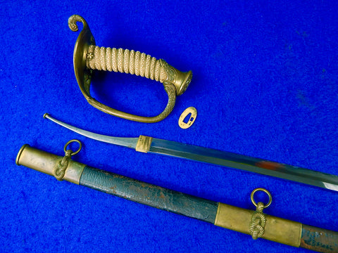 Antique US WW1 Japan Japanese Made Model 1852 Navy USN Katana Sword w/ Scabbard