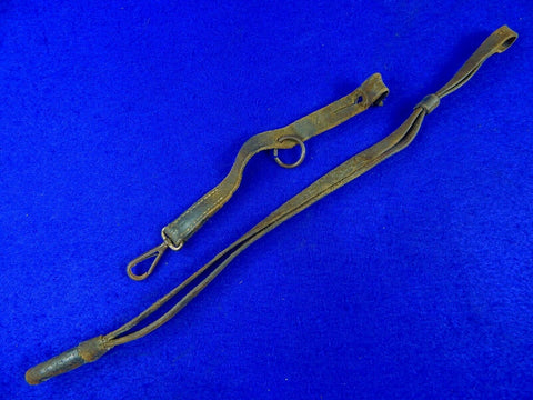 Antique 19 Century US Civil War Cavalry Sword Swords Leather Portepee Knot and Hanger