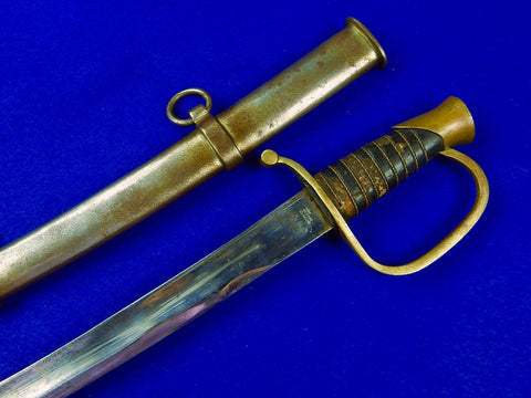 Vintage Aged Replica of Antique US Civil War Artillery Ames Sword Swords w/ Scabbard