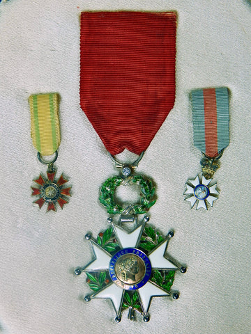 French France 1945-1954 LEGION OF HONOR Gold Silver Diamond Cross Order Medal