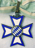 German Germany Bavarian post WW1 WW2 MERIT Marked Neck Cross Order Medal Badge