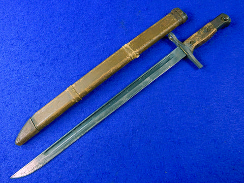 RARE Japanese Japan WW2 Arisaka Bayonet Fighting Knife Dagger w/ Scabbard