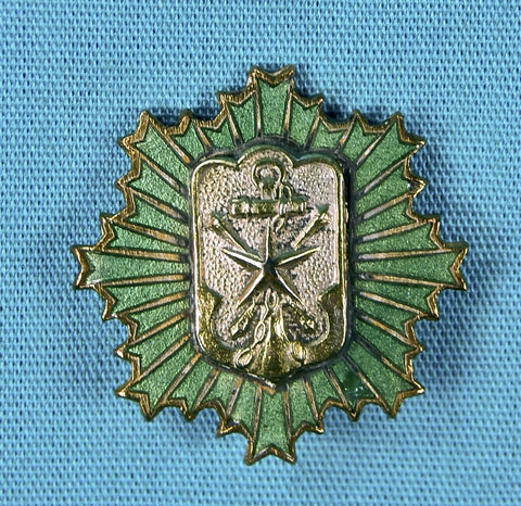 RARE Imperial Japanese Japan Military Reservist Officer's Rank Enamel Badge Pin Star Award